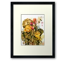 Southwest Sumi- Prickley Pear Framed Print