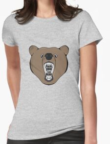 Bears Are Awesome. Womens Fitted T-Shirt