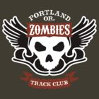 Portland Zombies Track Club Crest (dark) by Rob DeBorde