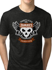 Portland Zombies Track Club Crest (dark) Tri-blend T-Shirt