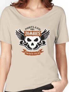 Portland Zombies Track Club Crest (light) Women's Relaxed Fit T-Shirt