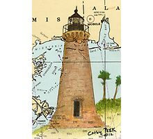 Round Island Lighthouse MS Nautical Chart Peek Photographic Print