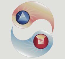 Sapphire yin, Ruby yang - Steven Universe by Sharkanakronism