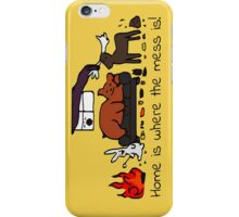 Messy House Animals V2 iPhone Case/Skin