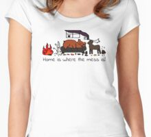 Messy House Animals V2 Women's Fitted Scoop T-Shirt