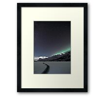 A crack in the ice Framed Print