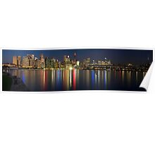 City NIght Panorama Poster