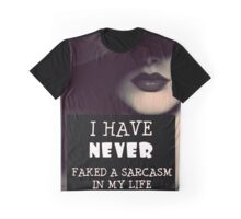 Faked A Sarcasm Graphic T-Shirt