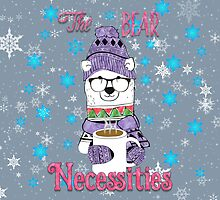 The Bear Necessities In Snow with Coffee by Carol Vega
