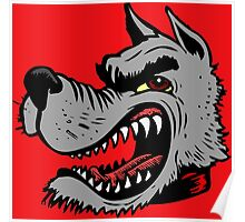 Angry Wolf (Red Collar) Poster