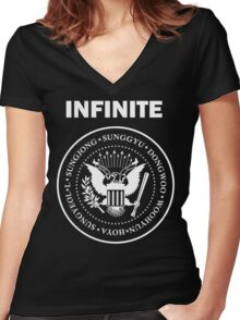 Infinite Goes Punk Women's Fitted V-Neck T-Shirt