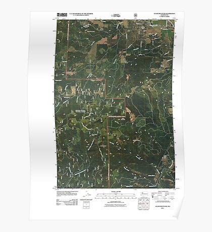 USGS Topo Map Washington State WA Guler Mountain 20110509 TM Poster