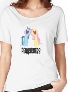 Pegasisters [black text] Women's Relaxed Fit T-Shirt