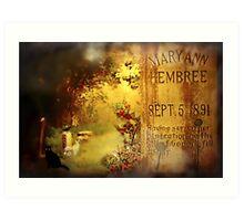 The Death of Mary Ann Art Print