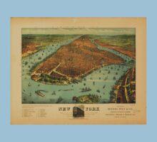Panoramic Maps New York1 One Piece - Short Sleeve