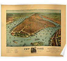 Panoramic Maps New York1 Poster