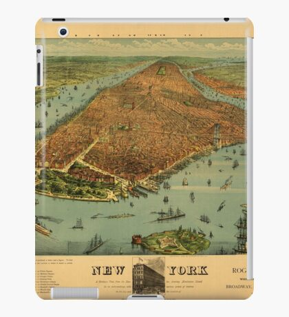 Panoramic Maps New York1 iPad Case/Skin