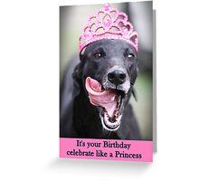 Celebrate like a Princess Greeting Card