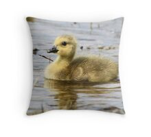 Golden Fluff Throw Pillow