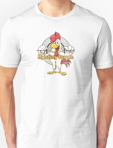 Gay Cock Hunting Distressed  T-Shirt