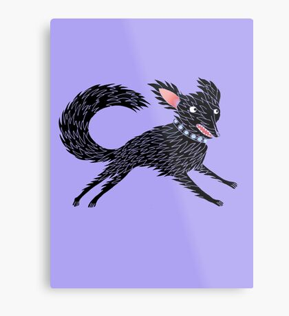 Running Dog Metal Print