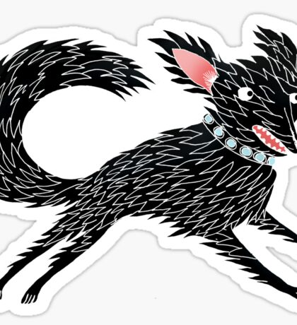Running Dog Sticker