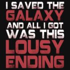 ALL I GOT WAS THIS LOUSY ENDING - Mass Effect ending rage shirt by springly