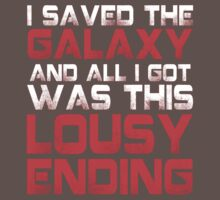 ALL I GOT WAS THIS LOUSY ENDING - Mass Effect ending rage shirt Kids Clothes