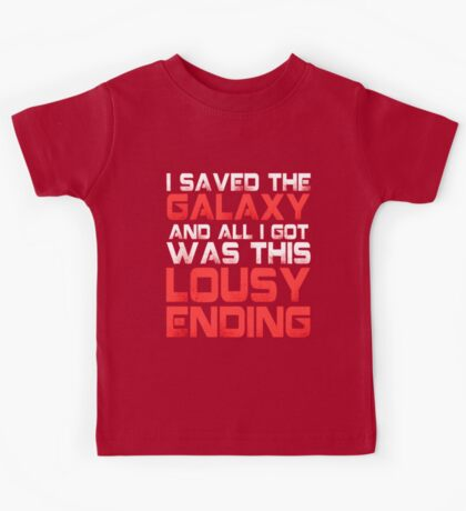 ALL I GOT WAS THIS LOUSY ENDING - Mass Effect ending rage shirt Kids Tee