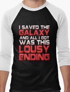ALL I GOT WAS THIS LOUSY ENDING - Mass Effect ending rage shirt Men's Baseball ¾ T-Shirt