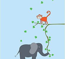 The Monkey and the Elephant by Belle Farley