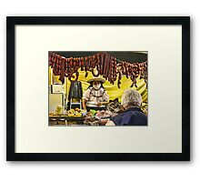 No Sir, I haven't  flu. I'm dieting. Framed Print