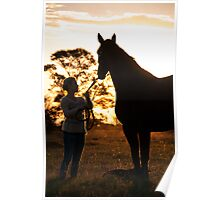 There is no bond like that between a girl and her horse Poster