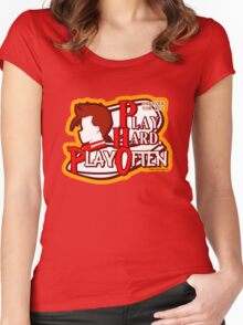 Dwarven Vow #10 - Play hard, play often! Women's Fitted Scoop T-Shirt