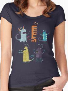 Secretly Vegetarian Monsters Women's Fitted Scoop T-Shirt