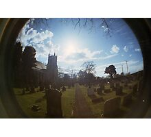 Fisheye Grain  Church Photographic Print