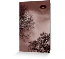 UFO over Warminster Greeting Card