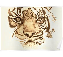 Pyrography Tiger Head Poster