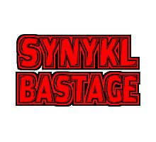 Synykl Bastage Text  Photographic Print