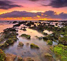 Middle Rock Sunrise by Daniel Akinin