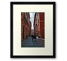 ROME - STREETSCAPE (1)  Framed Print
