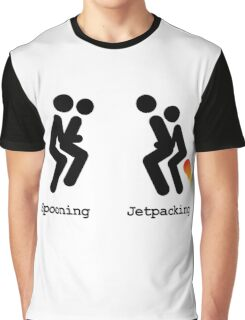Spooning and Jetpacking Graphic T-Shirt