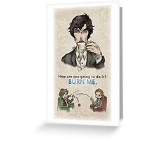 Burning Tea Greeting Card