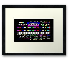 Teletext Test Page Framed Print