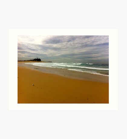 Newcastle. Nobby's Beach. Australia Art Print