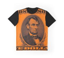 LINCOLN-5 DOLLAR COLOUR Graphic T-Shirt