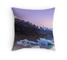 Tasman Glacier Lake - New Zealand Throw Pillow
