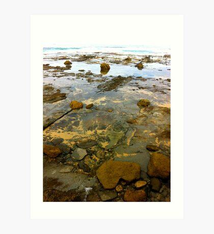 Beach. Rocks. Glassy. Art Print