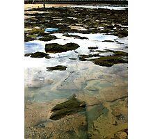 Water. Rocks. Sand. Glass.  Photographic Print