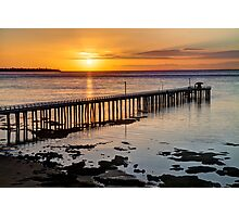 """""""Sunrise at Point Lonsdale"""" Photographic Print"""